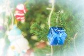 Vánoční strom s vánoční ozdoby — Stock fotografie