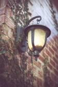 Lantern on wall — Stock Photo