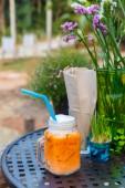 Ice tea latte — Stockfoto