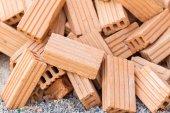 Brick for construction work — Stok fotoğraf