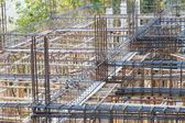 家を建てるのための基礎鋼棒 — ストック写真