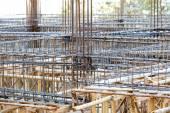 стальной стержень фонда для здания дома — Стоковое фото