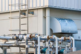 Pipe for air control in factory — Stock Photo