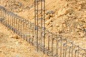 foundation steel rod for house building  — Zdjęcie stockowe