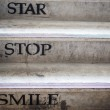 Staircase with concept life word — Stock Photo #68204947