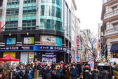 People at Seoul district for shopping — Stock Photo