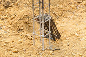 Foundation steel rod for house building — Stock Photo