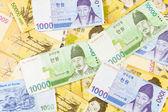 Korea money background — Stok fotoğraf