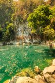 Wonderful crater lagoon in thailand — Stock Photo