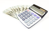 Dollars money with calculater — Stock Photo