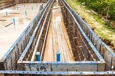 Metal mold for cement construction — Stok fotoğraf