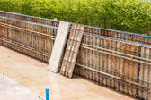 Metal mold for cement construction — Stock Photo