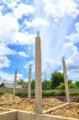 家を建てるのための基礎 — ストック写真