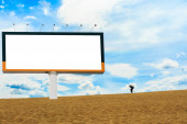 Blank billboard for advertising — Stock Photo