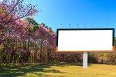 Blank billboard for advertising — Stock Photo