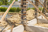 Słupek betonowy formy do budowy domu — Zdjęcie stockowe