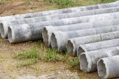 Asbestos pipe for construction job — Stock Photo
