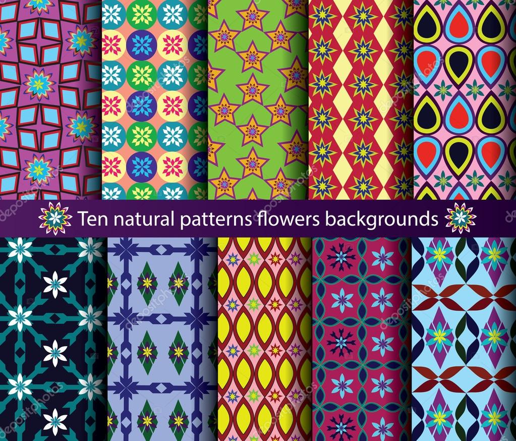 Patterns in Nature Flowers Patterns Vector Nature Seamless Backgrounds Vector by Photomw1977
