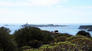 Island on Mediterranean Sea — Stock Video