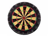 An empty dartboard isolated over a white background — Stockfoto