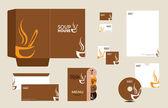 Modello di caffè — Vettoriale Stock