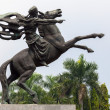 Statue of Prince Diponegoro riding a horse in Jakarta, Indonesia — Stock Photo #51839207
