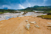 Plateau Dieng National Park, Java, Indonesia — Stock Photo