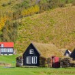 Traditional icelandic houses — Stock Photo