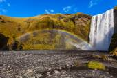 Waterfall Skogafoss in Iceland — Stock Photo
