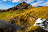 Waterfall, Skogafoss, Iceland — Stock Photo
