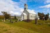 Old wooden Church in Reykholt — Stock Photo