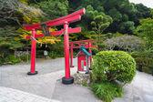 Torii gate in the Japanese city park Beppu — Stock Photo