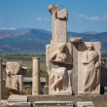Sculpture detail in Ephesus — Stock Photo #72234913