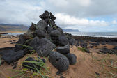 Iceland landscape with volcanic stones — Stock Photo