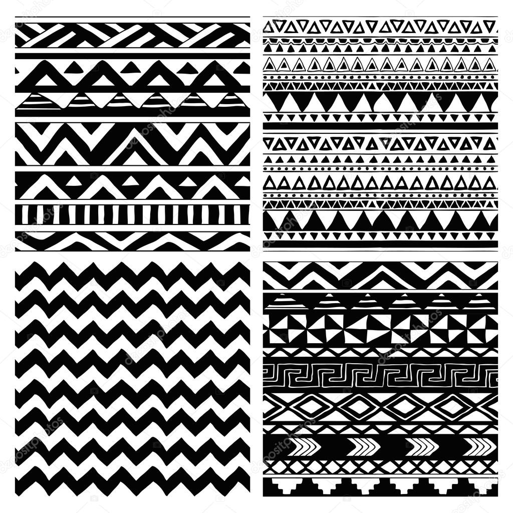 the gallery for african tribal designs black and white. Black Bedroom Furniture Sets. Home Design Ideas