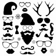 Christmas fashion silhouette set hipster style — Stock Vector #52394131