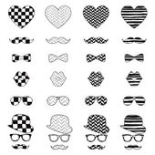 Hipster Vintage Icon with Pattern Background — Stock Vector