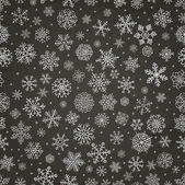 Winter Snow Flakes Doodle Seamless Background — Stock Vector