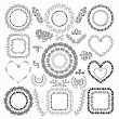 Hand-Drawn Floral Frames — Stock Vector #59974805