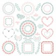 Hand-Drawn Floral Frames — Stock Vector #61042165
