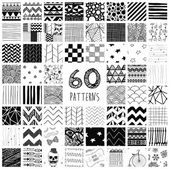 60 Vector Pattern Swatches — Stock Vector