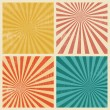 Sunburst Retro Textured Grunge Background Set — Stock Vector #64681291