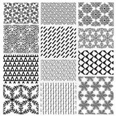 Hand Drawn Floral Seamless Patterns — Vettoriale Stock