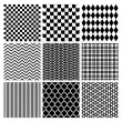 Geometric Monochrome Seamless Background Patterns — Stock Vector #70291739
