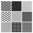 Geometric Monochrome Seamless Background Patterns — Stock Vector #70291985