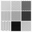 Geometric Monochrome Seamless Background Patterns — Stock Vector #70292203