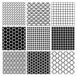 Geometric Monochrome Seamless Background Patterns — Stock Vector #70292463