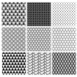 Geometric Monochrome Seamless Background Patterns — Stock Vector #70292863