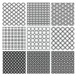 Geometric Monochrome Seamless Background Patterns — Stock Vector #70293903