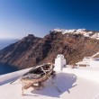 Rowing boat on a roof, Santorini, Greece — Stock Photo #71082347